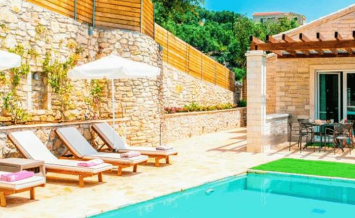 Villa Jacaranda Agni Bay Corfu Pool Area