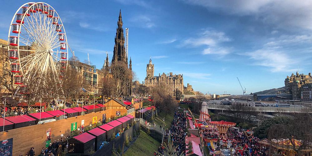 Edinburgh Christmas Market From Cardiff