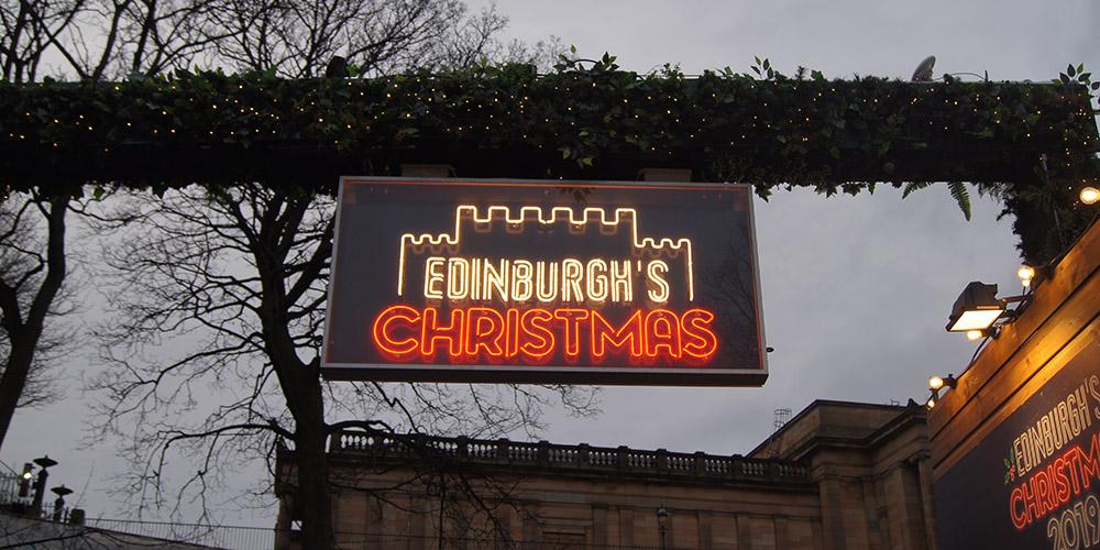 Edinburgh Christmas Market Neon Signage
