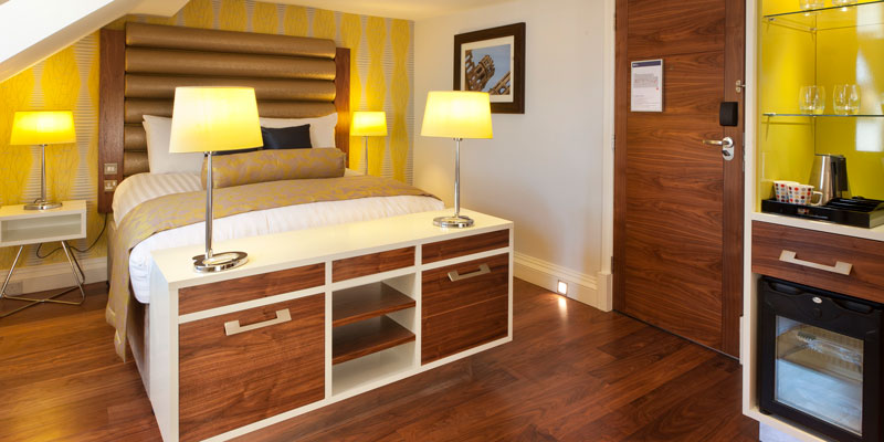 Stay in a junior suite at the 4* Hotel Indigo.